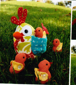 PATTERN-Clucky-fun-Hen-amp-chickens-softie-PATTERN-Melly-amp-Me