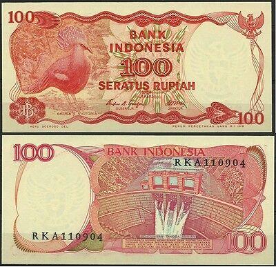 INDONESIE OISEAUX GOURA VICTORIA CROWNED PIGEON BIRDS VÖGEL 100 RUPIAH NEUF 1984