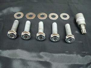 FOR-HARLEY-CHROME-REAR-PULLEY-HARDWARE-KIT-BIG-TWIN-80-99-XL-SPORTSTER-91-03
