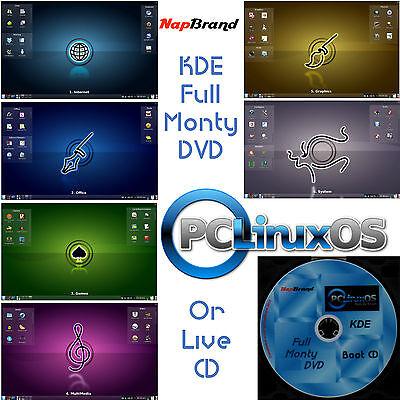 PCLinuxOS Betriebssystem KDE Voll Monty LIVE DVD 32 oder 64 bit