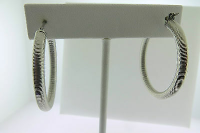 Stainless Steel Women's Brushed  Hoop line Design Fashion Earrings light Weight