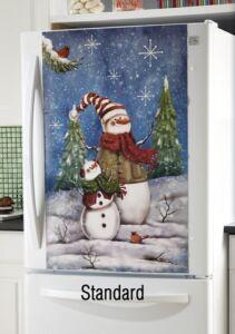 Merveilleux ... Decorative Snowman Standard Refrigerator Door Magnet Cover Home