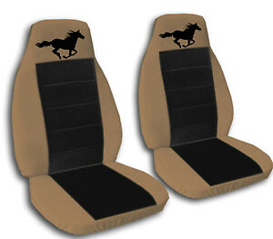 horse car seat covers in brown black velour front set. Black Bedroom Furniture Sets. Home Design Ideas