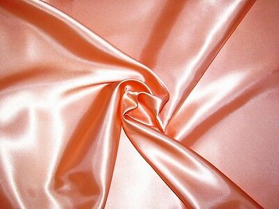 "CORAL PEACH CREPE BACK SATIN FABRIC GR8 QUALITY SOFT & SMOOTH 45""W"