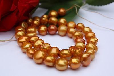 BR213 9-10mm Zuchtperlen Strang Süßwasser Perlen Schmuck Kette Halskette barock