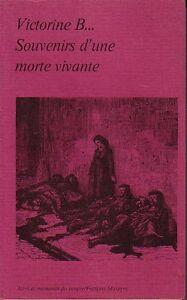 Victorine-B-Souvenirs-d-039-une-morte-vivante-Preface-de-Lucien-Descaves