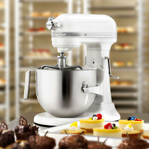 White Kitchenaid kitchenaid commercial 7-qt bowl lift nsf stand mixer ksm7990wh 1.3