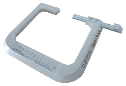 GLAS-O-METER GlasCheck Glasdickenmesser  Glasstärkenmesser Fensterglas-Meßkluppe