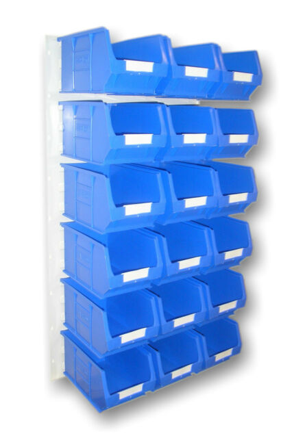 PLASTIC STORAGE BINS, LOUVRE BOX SET BIN BINS VARIOUS COLOURS  BK10