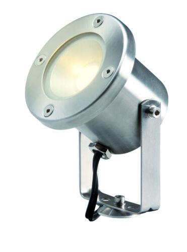 Garden Lights 12 Volt Catalpa Edelstahl 3er Komplettset mit LED-Beleuchtung