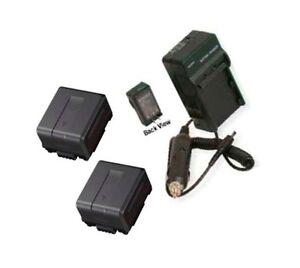 TWO-2-Batteries-Charger-for-Panasonic-HDC-TM15PP-HDC-TM15K-SDR-H40P-SDR-H40PC