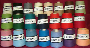 Yeoman-Fifty-Fifty-50-50-Yarn-Wool-Acrylic-Mix-3ply-350g-cones-Choice-of-Colours