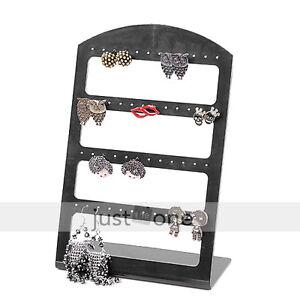Black-Plastic-Display-Stand-Holder-Black-for-48-Earring