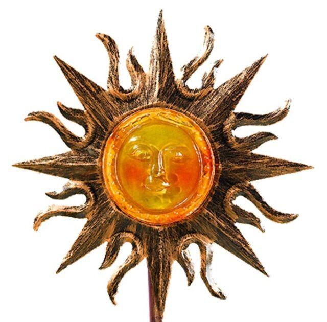 SOLAR-STAB SONNE GARTENLEUCHTE SOLARLEUCHTE DEKO-GARTENLICHT SOLARTREND NiMHAKKU