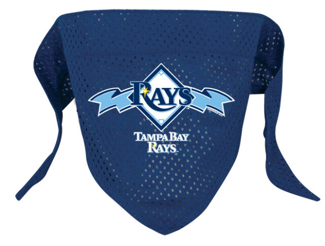 NEW TAMPA BAY RAYS PET DOG BASEBALL JERSEY BANDANA ALL SIZES LICENSED