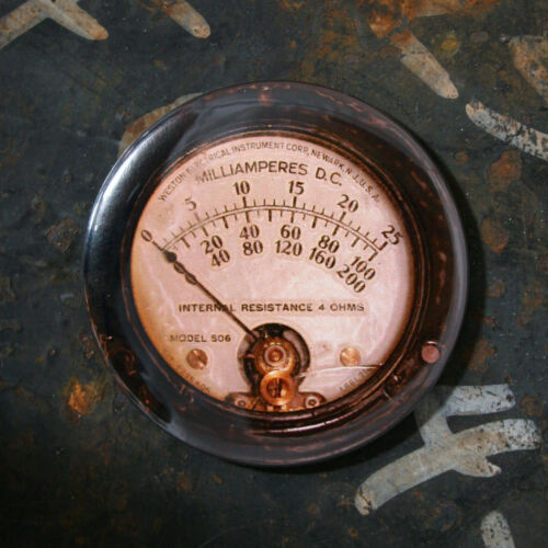 GAUGE 10 - Printed Round Fridge Magnet, Steampunk, 2.25""