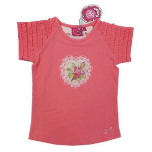 BANDTILE%Jubel% Shirt T-Shirt halbarm lachs Mädchen Gr.92,98,104,116, NEU!!!