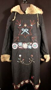 MUSEUM-QUALITY-RARE-NATIVE-AMERICAN-1922-ST-PAUL-SLED-DOG-DERBY-COAT
