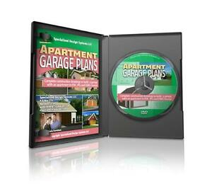 20 garage apartment plans on dvd in jpg pdf and dwg format for Garage apartment plans ebay