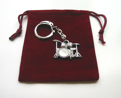 Drums Keyring Collectable Music Gift Rock Musician Pop Rock Jazz Country Band