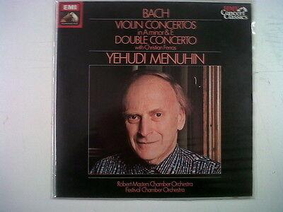 LP BACH vilin concertos double concert YEHUDI MENUHIN