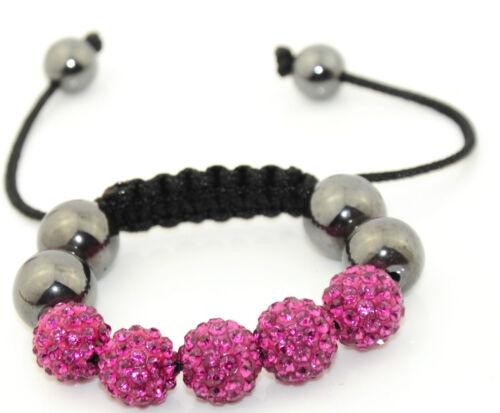 Ideales Weihnachtsgeschenk für Junge Mädchen Kinder Shamballa Armbänder
