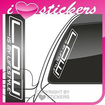 Aufkleber LOW IS MY LIFESTYLE TUNING Sticker OEM Shocker Frontscheibe Drift AF03