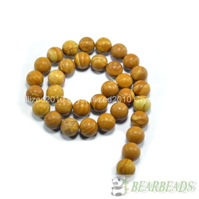 Natural Wood Jasper Gemstone Round Beads 4mm 6mm 8mm 10mm 12mm 14mm 16''