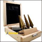 3pc Titanium Step Uni Bit Reamer Set For Aluminum Metal
