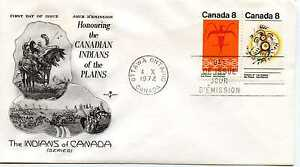 Canada-564-65-Indians-of-the-Plains-vertical-RoseCraft-FDC