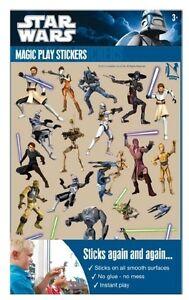 Star-Wars-Clone-Wars-Magic-Play-Sticker-Aufkleber-Deko-Party-Geburtstag-Fenster