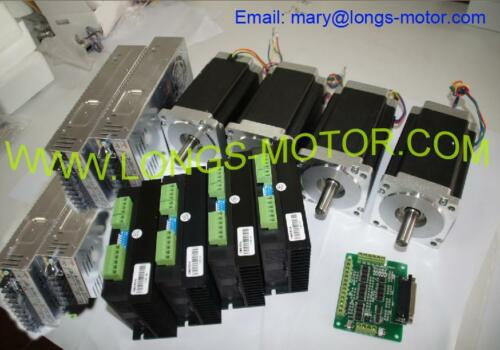 【Germany Warehouse】4Axis Nema34 Stepper Motor 1600oz.in Dual &Driver CNC Router