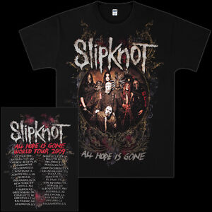 SLIPKNOT-034-Circle-Frame-034-ALL-HOPE-IS-GONE-WORLD-TOUR-2009-T-Shirt-CONCERT-SHIRT