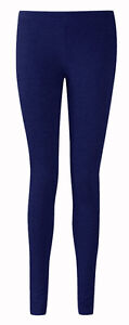 LADIES-ANKLE-LENGTH-STRETCH-FIT-COTTON-LEGGING-IN-NAVY-BLUE-COLOURS-SIZES-8-20