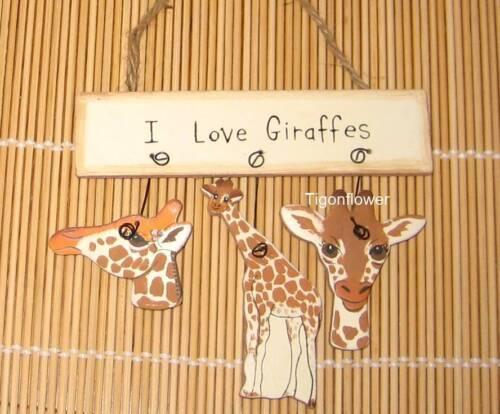 Wood Sign I LOVE Buy 2 get 1 FREE You Choose monkey panda turtle giraffes frogs