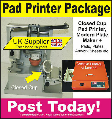 Pad Printers, Pad Printing Machine, Closed Cup Pad Printer, UV Exposure Unit,