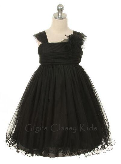 New Girls Black Fancy Dress 2-14 Easter Party Flower Girl Christmas Graduation
