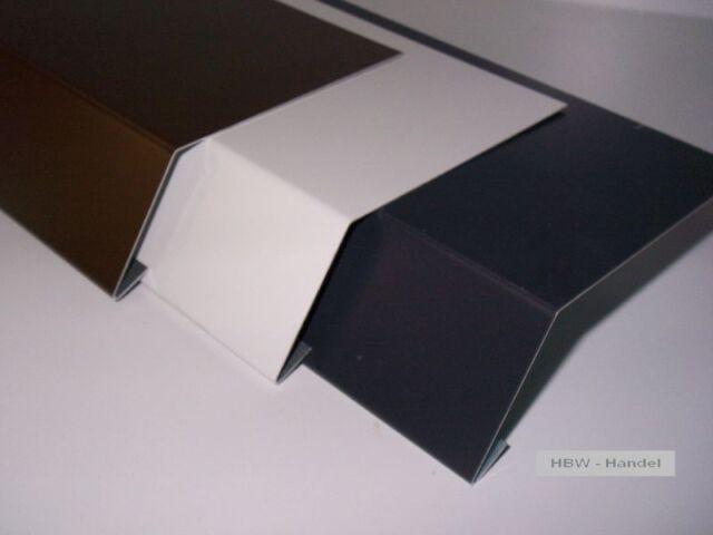 Traufblech 1m & 2m Material ausw Rinneneinhang Dachblech f Traufe Traufstreifen