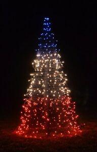 4' PATRIOTIC RED-WHITE-BLUE CRAB POT CHRISTMAS TREE PreLit NC Coast Seashore   eBay