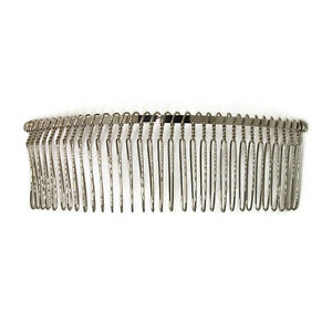 """12 Metal Hair Combs 32 Wire Teeth Silver Bridal Prom Supply Accessory 5"""" 130mm"""