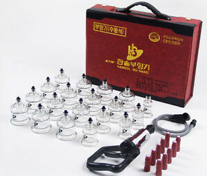 NEW-CUPPING-SET-19-CUPS-10-MAGNETS-PUMP-BODY-MASSAGE-MASSAGER-THERAPY-KOREA-MADE