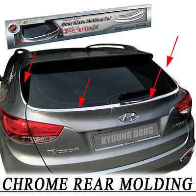 Rear Exterior Chrome Garnish Molding Trim 4EA For 2010 2012 Hyundai Tucson ix35