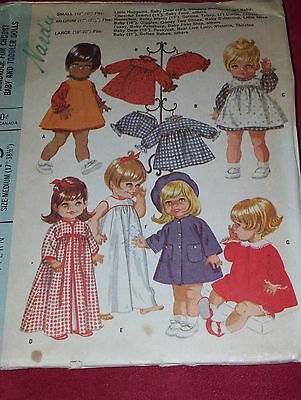 "McCALL'S #9449 17"" - 18 1/2"" BETSY WETSY ~ HONEYBUN ~ GIGGLES, ETC. DOLL PATTERN"