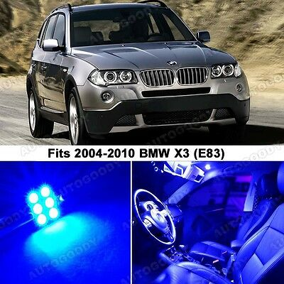 15 x Premium Blue LED Lights Interior Package Upgrade for BMW X3