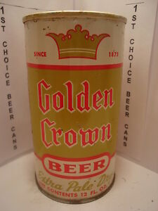 GOLDEN-CROWN-STRAIGHT-STEEL-PULL-TAB-BEER-CAN-70-4-MAIER-LA-CA