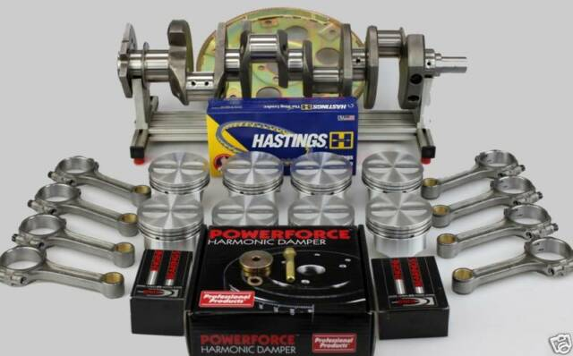 SBC CHEVY 383 STROKER KIT .030 FORGED -10CC DISH PISTONS H-BM RODS 2PC RMS