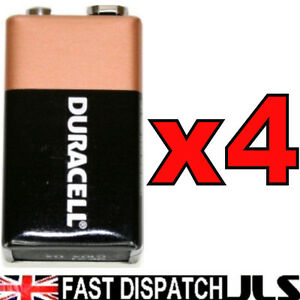 4-x-DURACELL-oem-9V-Batteries-MN1604-6LR61-PP3-Block-ALKALINE-Battery
