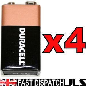 4-x-DURACELL-oem-9V-Batteries-MN1604-6LR61-PP3-Block-ALKALINE-Battery