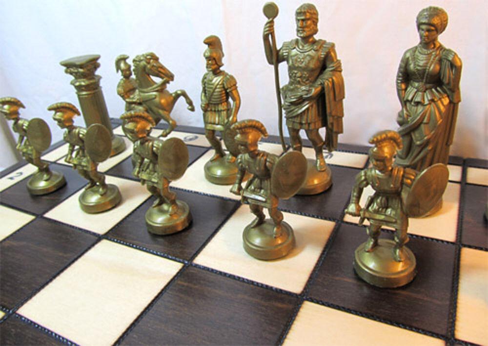Ajedrez muy bonito ajedrez Spartan 49 x 49 cm kh 100 mm