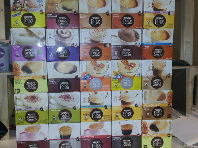 Nescafe Dolce Gusto Coffee Capsules - 24 Flavours to choose from. 8 or 16 cups.